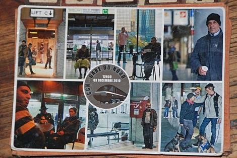 Christiane Huber Kunstprojekt im Gare du Nord Brüssel - Postcards from the Future
