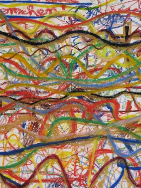 Kunstprojekt mit Gästen der Bahnhofsmission München unter der künsterlischen Leitung von Christiane Huber